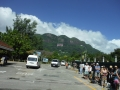 Queue for ferry to Praslin